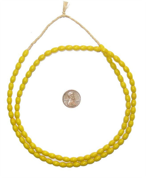Yellow Ghana Rice Beads