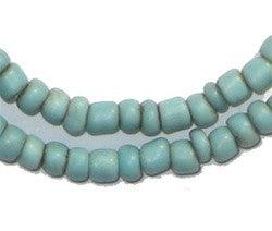 Turquoise Goomba Glass Beads, small round (3 strands)