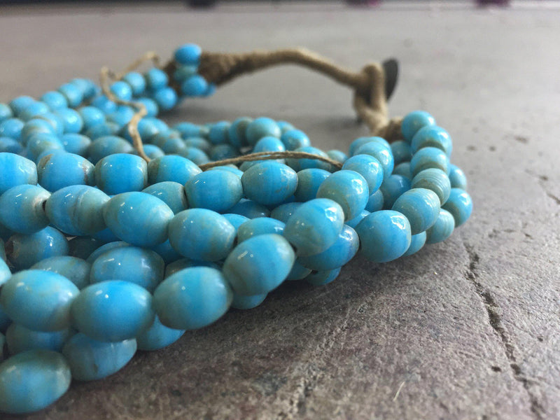 Hot Deal: Turquoise Naga Shell Glass Beads - The Bead Chest