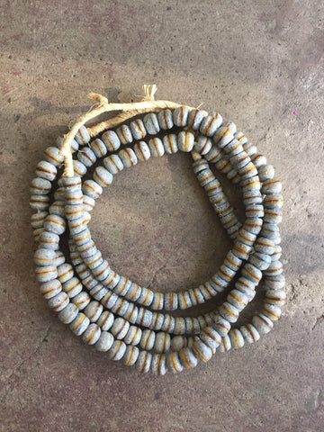 Image of Hot Deal: 2 Strands of Granite Grey Krobo Beads - The Bead Chest