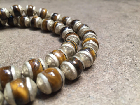 Hot Deal: Tiger Eye Silver Capped Beads - The Bead Chest