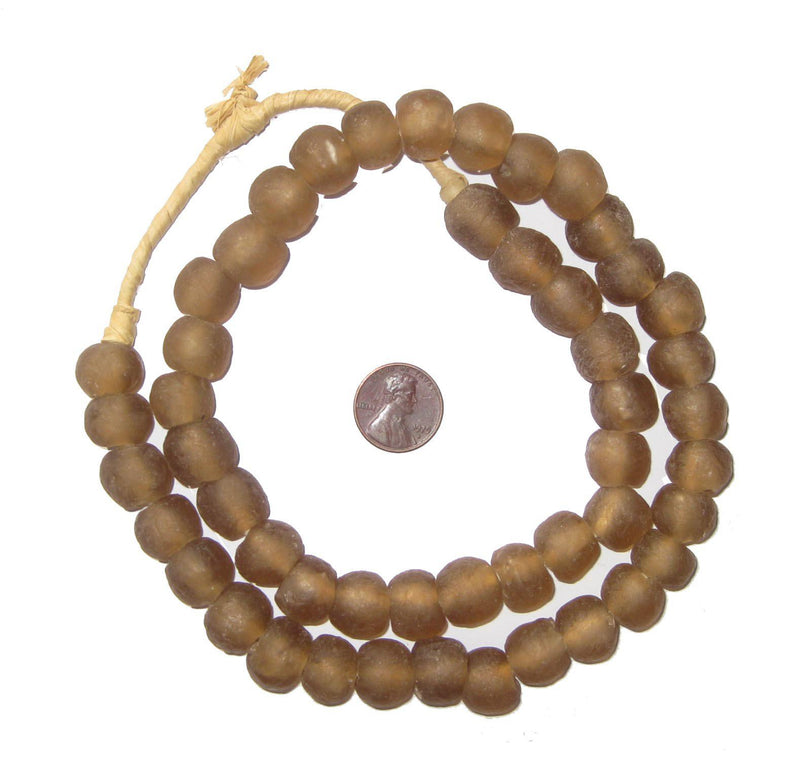 Mocha Recycled Glass Beads (14mm) - The Bead Chest
