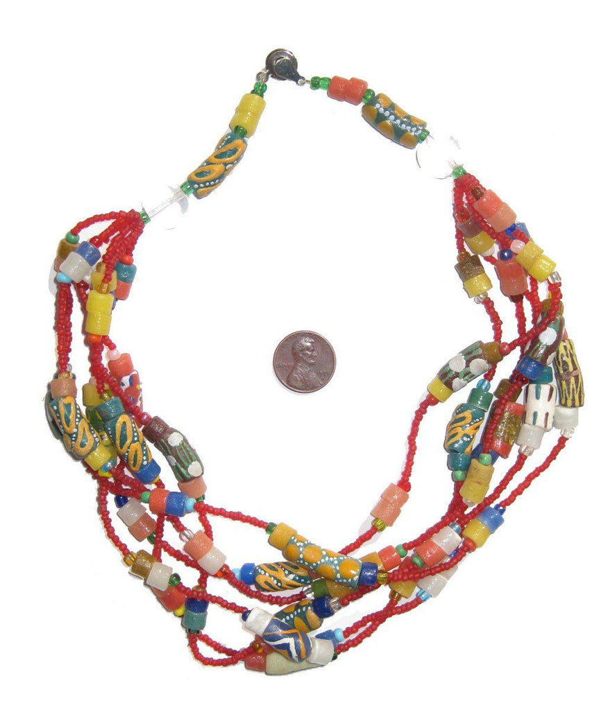 Fancy African Designer Necklace - The Bead Chest