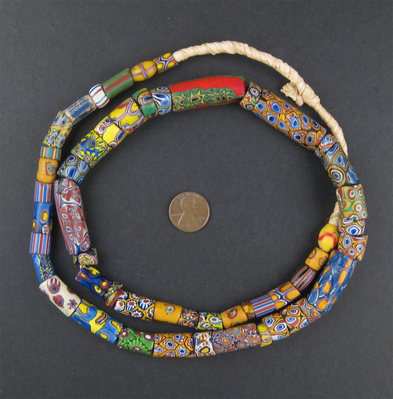 Old Antique Venetian Millefiori African Trade Beads - The Bead Chest