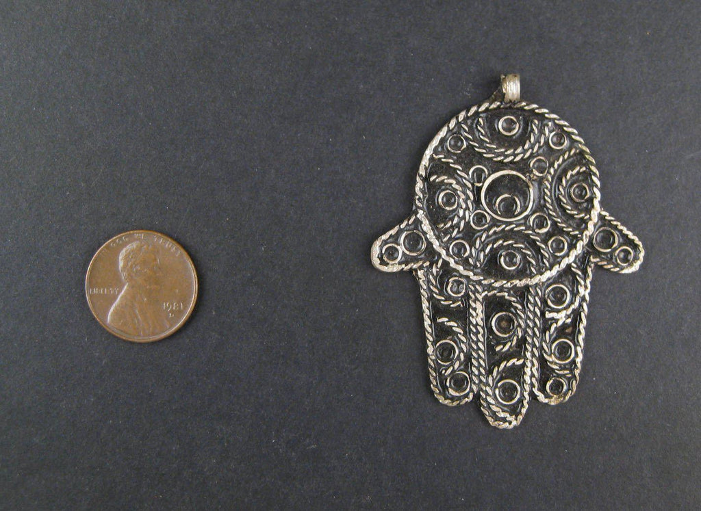 Moroccan Hamsa Pendant (Large) - The Bead Chest