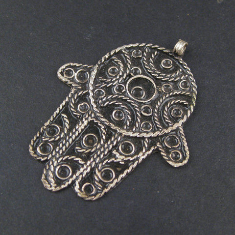 Image of Moroccan Hamsa Pendant (Large) - The Bead Chest