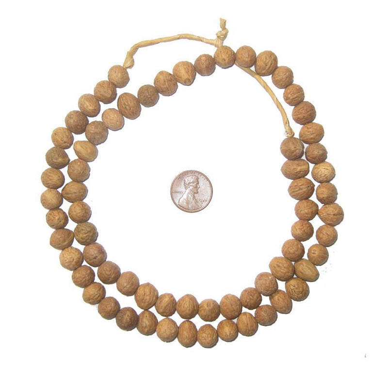 Natural Baby Walnut Plant Beads - The Bead Chest
