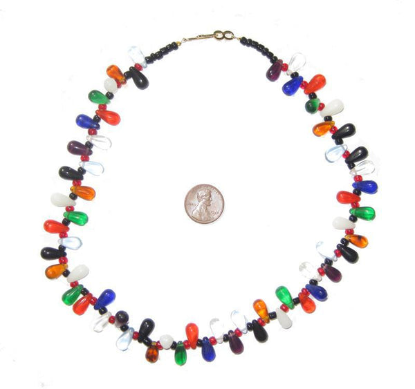 Tiny Multicolor Wedding Bead Necklace