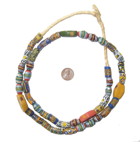 Image of Krobo Medley Powder Glass Beads - The Bead Chest