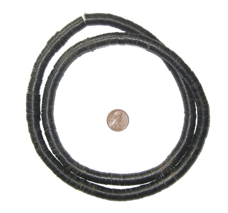 Vintage Black Phono Record Beads (14mm) - The Bead Chest