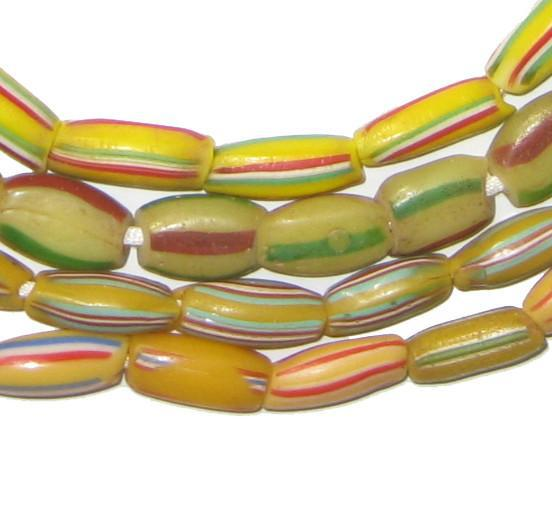 Wholesale Bundle Watermelon Chevron Beads (2 strands) - The Bead Chest
