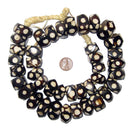 Polka Dot Batik Bone Beads (Faceted) - The Bead Chest