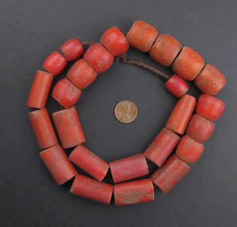 Image of Yoruba Mock Coral Beads - The Bead Chest