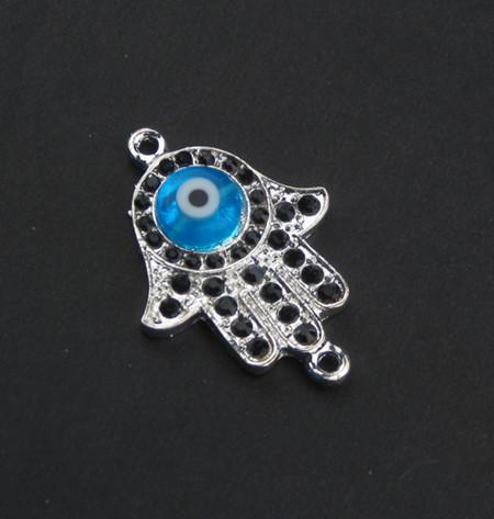 Image of Evil Eye Hamsa Pendant - The Bead Chest