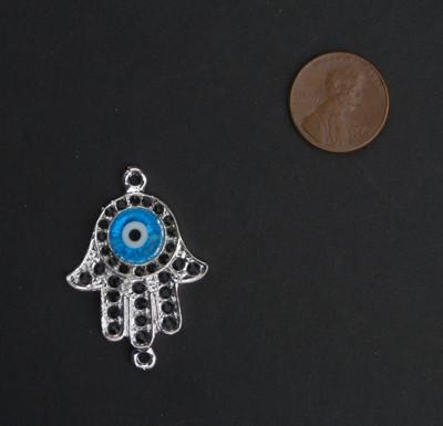 Evil Eye Hamsa Pendant - The Bead Chest