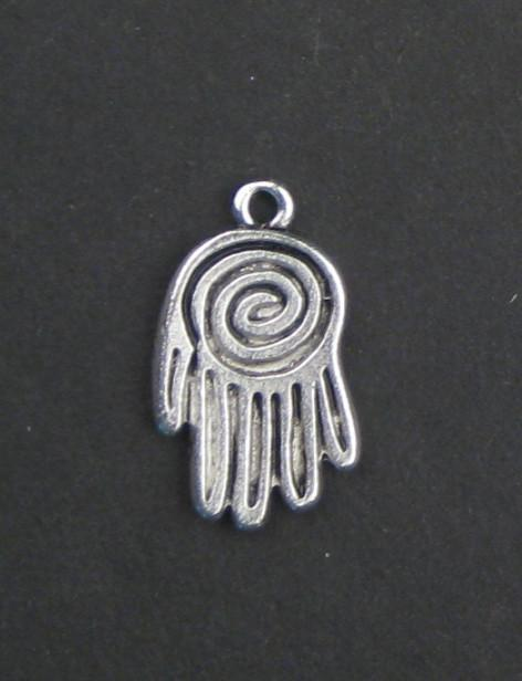 Mini Silver Hamsa Pendant (Set of 2) - The Bead Chest