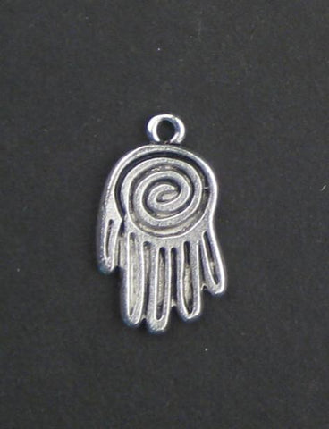 Image of Mini Silver Hamsa Pendant (Set of 2) - The Bead Chest