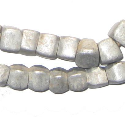 Old Ethiopian Aluminum Cube Beads - The Bead Chest