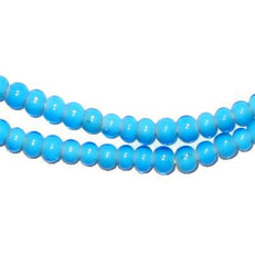 Turquoise White Heart Beads (4mm)