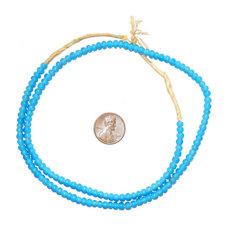 Turquoise White Heart Beads (4mm) - The Bead Chest