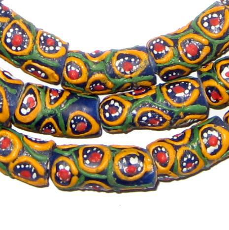 Multicolor Krobo Powder Glass Beads - The Bead Chest