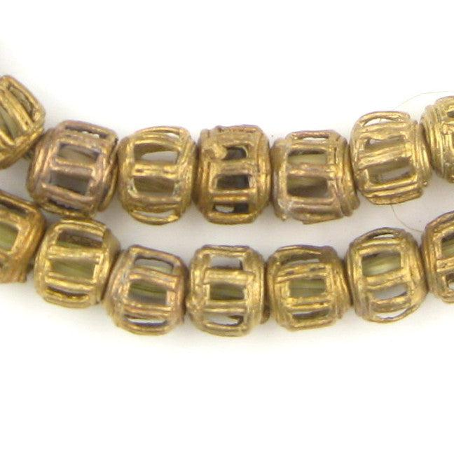 Braided Ghana Brass Filigree Beads (12mm) - The Bead Chest
