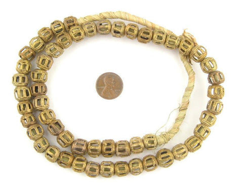 Image of Braided Ghana Brass Filigree Beads (12mm) - The Bead Chest