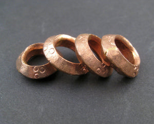 Copper Ethiopian Wollo Rings (18mm) (Set of 4) - The Bead Chest