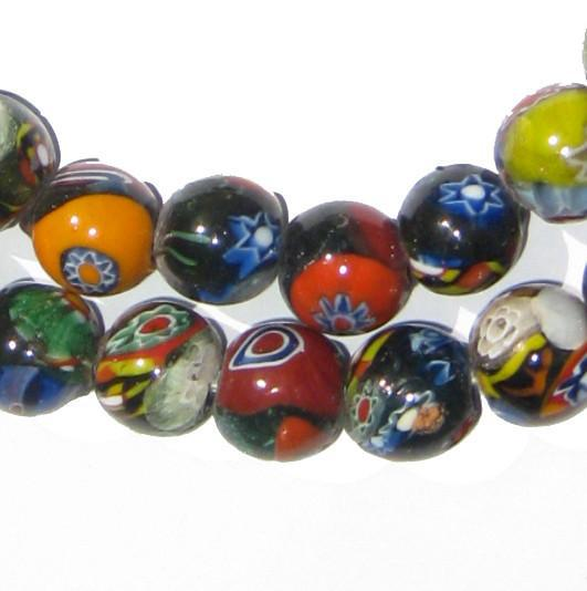 Round Millefiori Beads (12mm) - The Bead Chest