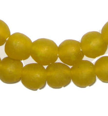 Yellow Recycled Glass Beads (14mm)