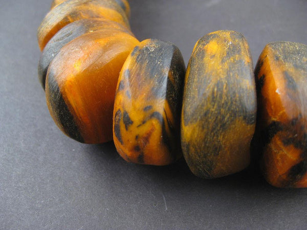 Dark Amber Color Moroccan Horn Beads