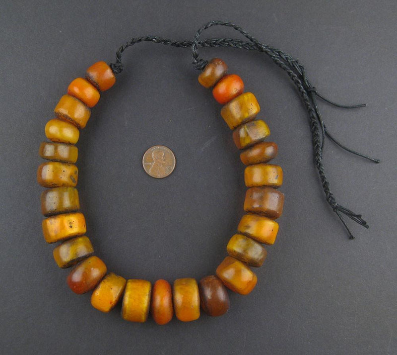 Moroccan Medley Amber Resin Beads (Petite) - The Bead Chest