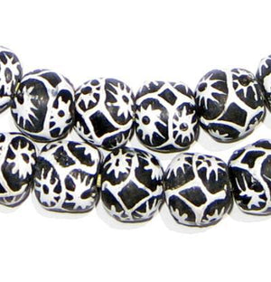 Spider Krobo Powder Glass Beads - The Bead Chest