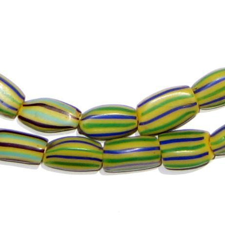 Image of Swamp Stripe Watermelon Chevron Beads - The Bead Chest