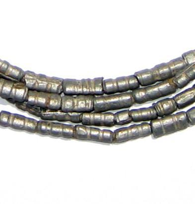 Unusual Ethiopian Aluminum Tube Beads - The Bead Chest