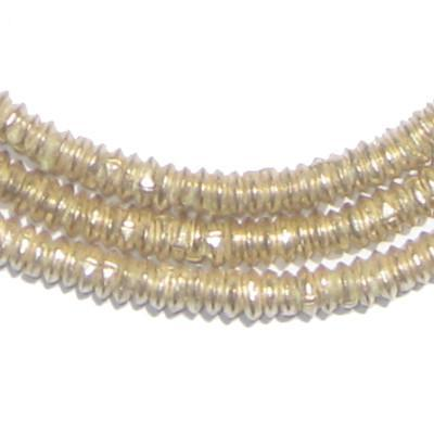 Silver Heishi Ethiopian Beads (4mm) - The Bead Chest