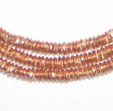 Copper Heishi Ethiopian Beads (4mm) - The Bead Chest