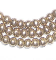 Round White Metal Ethiopian Beads (6mm)