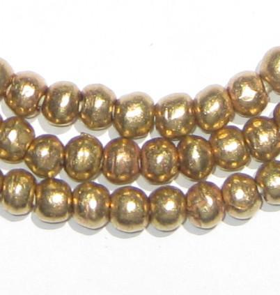 Round Brass Ethiopian Beads (6-7mm) - The Bead Chest