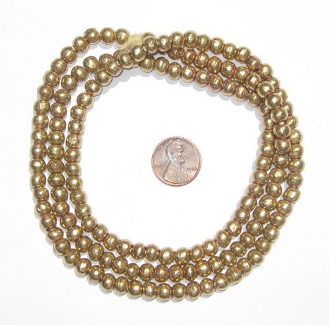 Image of Round Brass Ethiopian Beads (6-7mm) - The Bead Chest