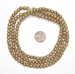 Round Brass Ethiopian Beads (6-7mm)