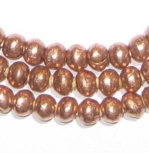 Round Copper Ethiopian Beads (6mm) - The Bead Chest