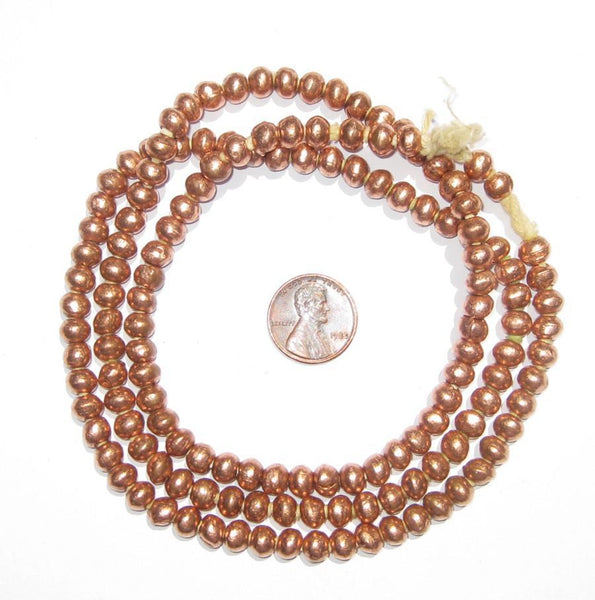 Round Copper Ethiopian Beads (6mm)