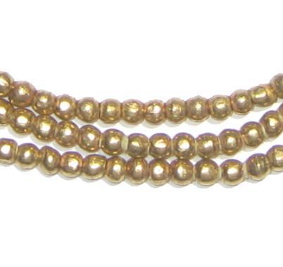 Round Brass Ethiopian Beads (4mm) - The Bead Chest