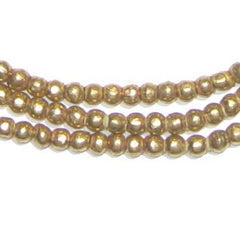 Round Brass Ethiopian Beads (4mm)
