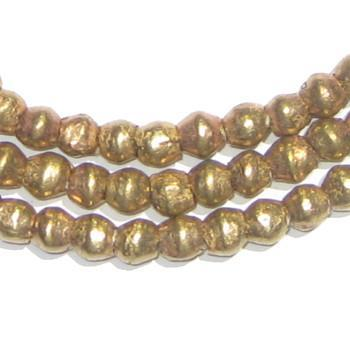 Ethiopian Brass Bicone Beads (7x6mm) - The Bead Chest