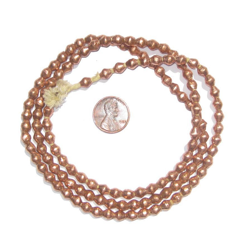 Ethiopian Copper Bicone Beads (6x5mm) - The Bead Chest