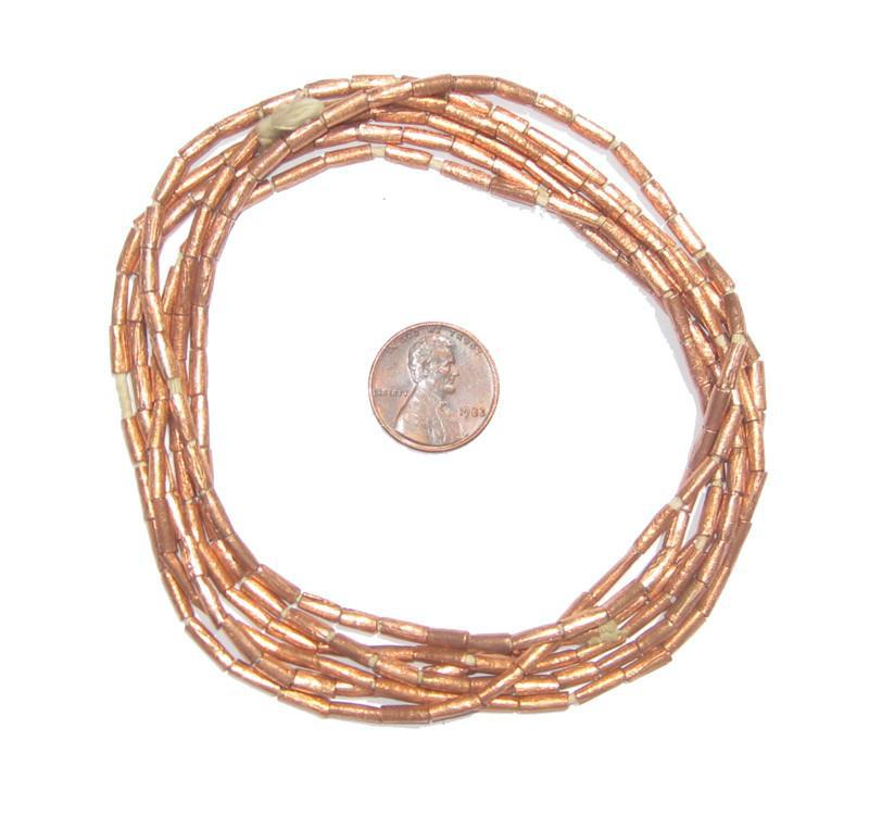 Copper Tube Ethiopian Beads (8x2mm) - The Bead Chest