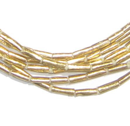 Brass Tube Ethiopian Beads (7x2mm) - The Bead Chest