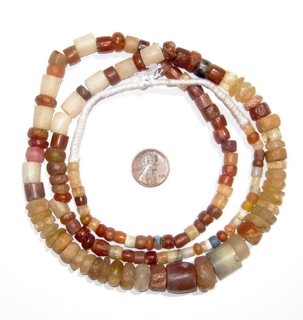 Ancient Multicolor Mali Stone Beads - The Bead Chest